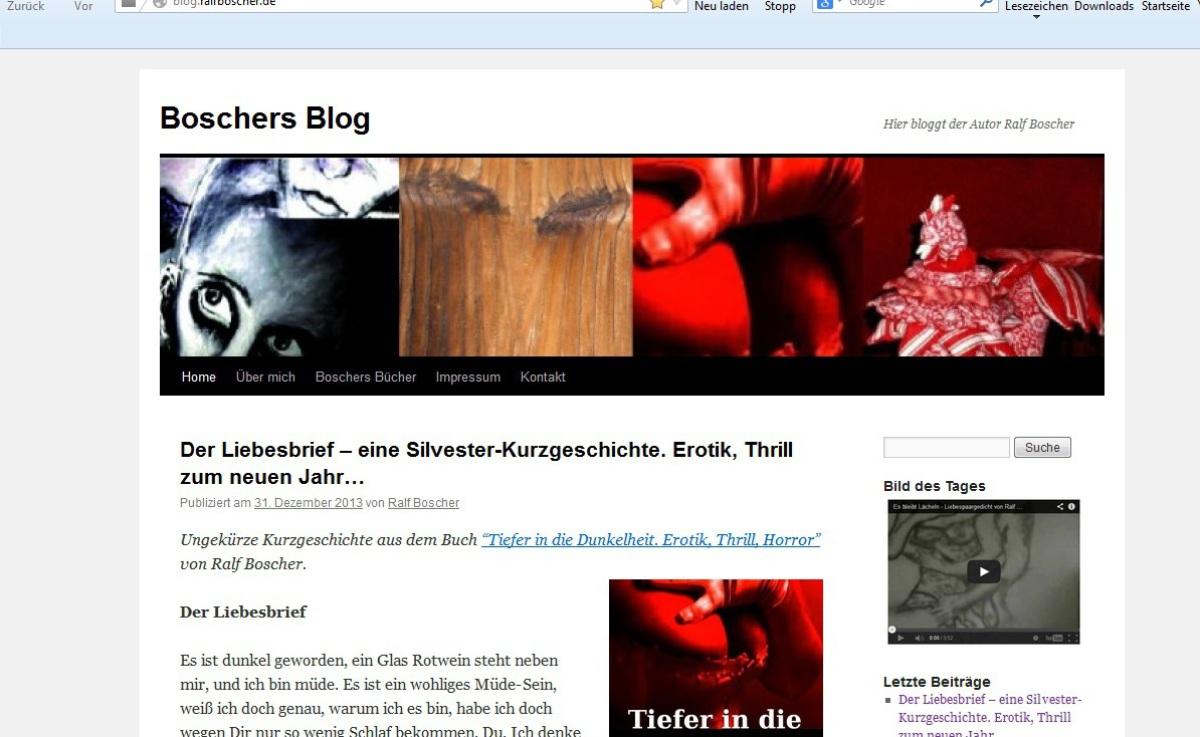 Der Schriftsteller Ralf Boscher Krimis Horrorgeschichten Romane